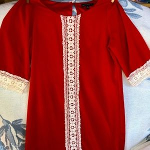 NWOT Girls Size 12 Sequin Hearts Red Dress
